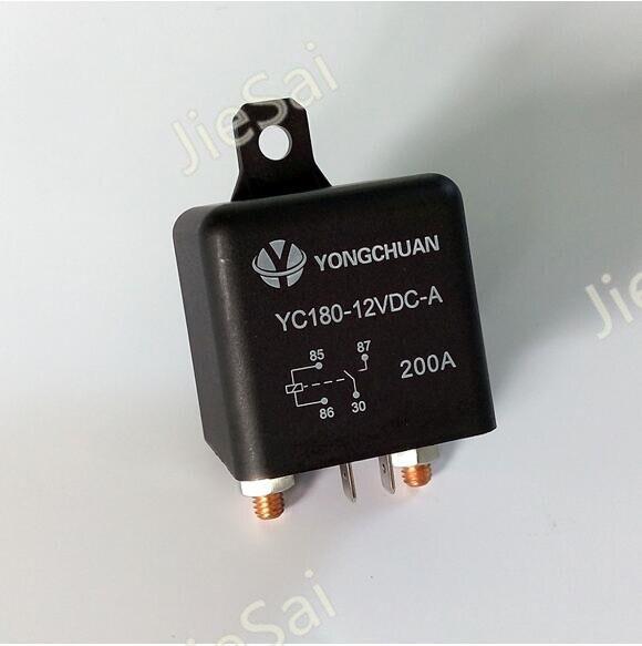 Continua 2 pin 120A/200A 12 V/24VDC de alta corriente de relé para automóvil coche relé con orificio de montaje