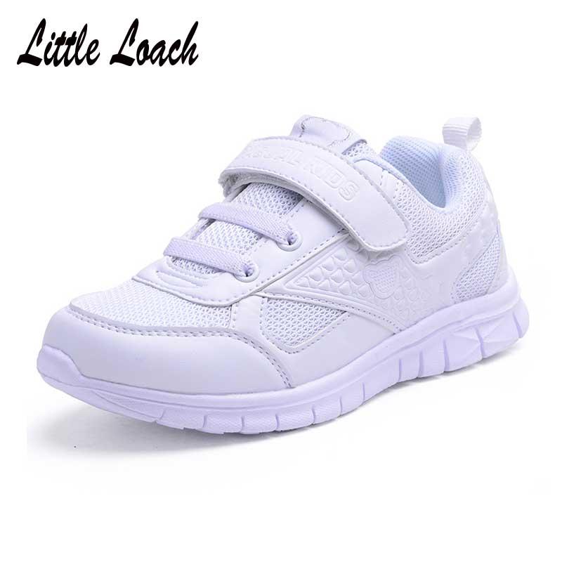 Zapatillas blancas para niños y niñas, tallas 26-37, calzado deportivo para adolescentes, zapatillas deportivas para niños, zapatillas para caminar ligeras, zapatillas de tenis resistentes al desgaste