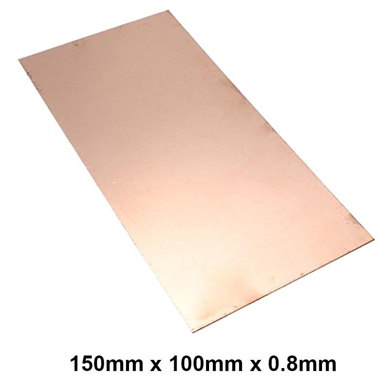 Premium T2 99.9% 100x150x0.8mm Copper Shim sheet Heatsink thermal Pad for Laptop GPU CPU VGA Chip RAM  and LED Copper Heat sink