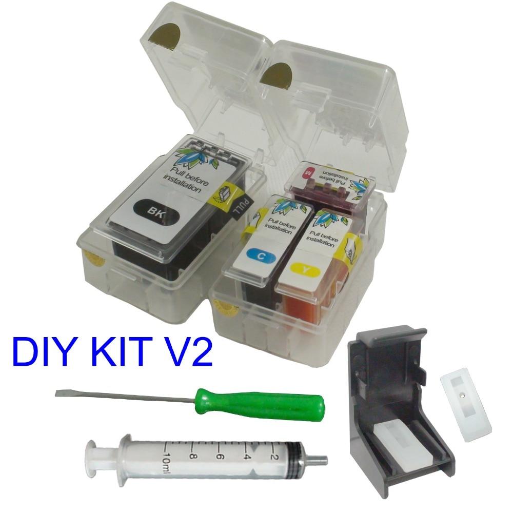Inteligente DIY kit de recarga para genuino 210XL 211XL CANON MX322 MX330 MX340 MX350 MX360 MX410 MX420 IP2700 IP2702 cartucho de tinta V2