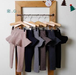 2019 Baby Girls Fall Winter Velvet Long Pants Children Girl Cotton Leggings Skirts Kids Trousers Clothes