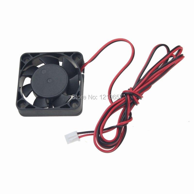 5 piezas gdstime 24V 2Pin bola DC ventilador de refrigeración 40mm x 10mm x 10mm 4cm 4010B 1M Alambre de RepRap 3D impresora CPU