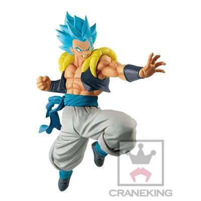 Bola de Dragón Original de Banpresto Super último soldado Gogeta pelo azul PVC figura modelo película Broly Gogeta figurita juguete