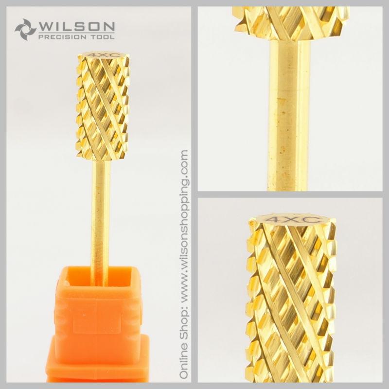 2 pcs-Grande Barrel Bit Ultra-Grossa (4XC-1140007)-Ouro-WILSON Carbide Bits Prego Broca