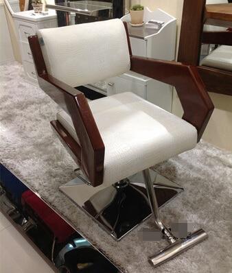 Высококачественный деревянный стул для салона парикмахерское кресло подлокотник Континентальный простой стрижка салон стулья стул