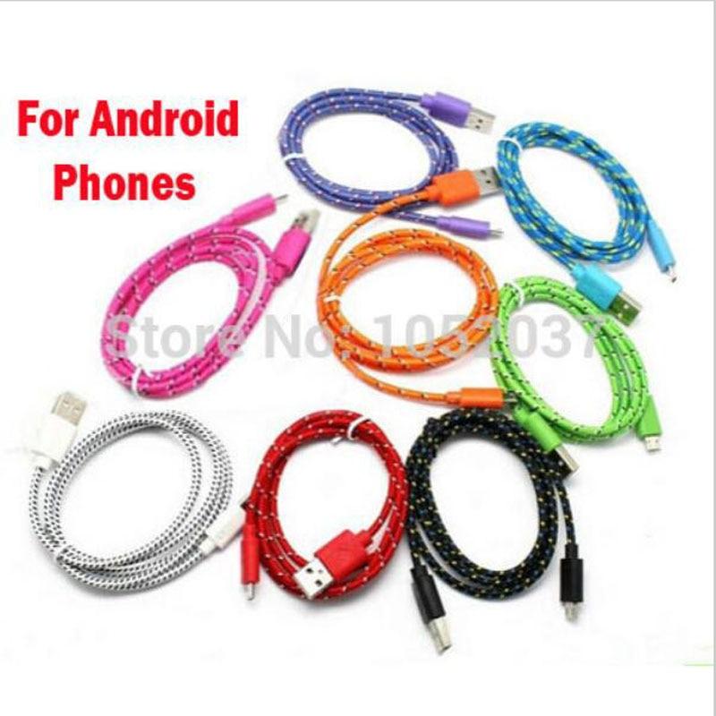 Cable de carga Micro usb de nailon para Samsung, S7, S6 edge,...