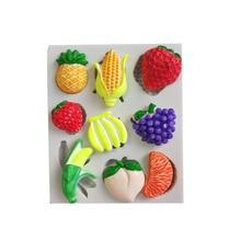 Forma di frutta ananas banana uva ecc del silicone della muffa della torta strumento di decorazione della muffa del cioccolato fondente della muffa della caramella muffa strumento