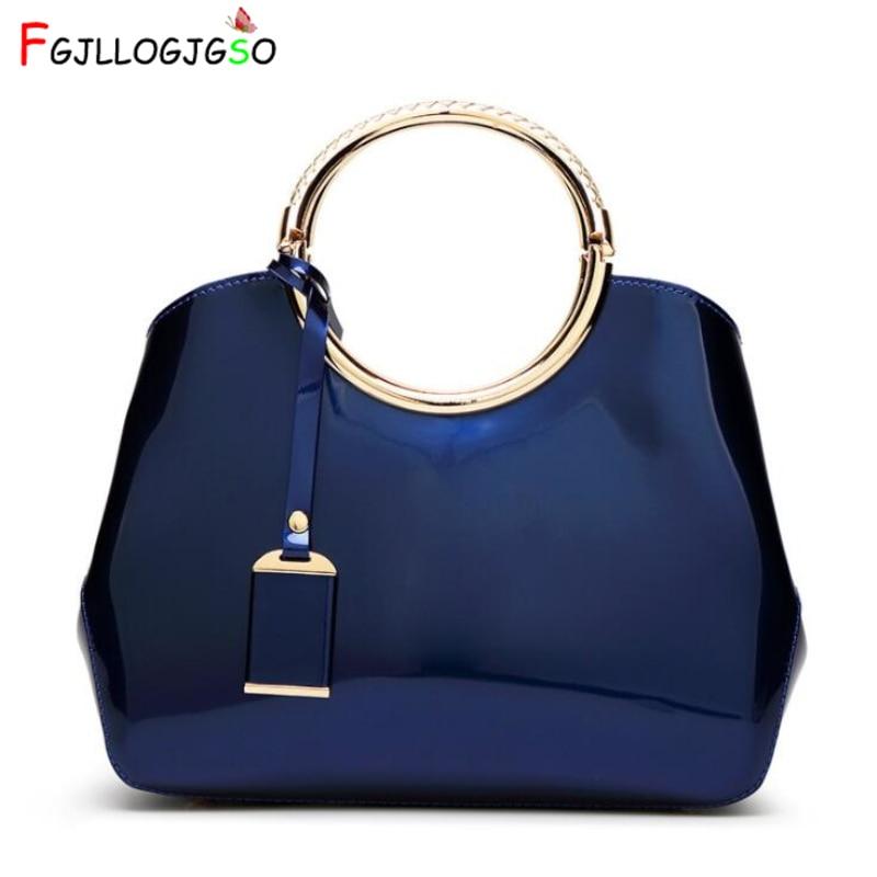 FGJLLOGJGSO Brand PU lacquer women leather handbags crossbody bags for female shoulder bag ladies hand bags messenger bag sac