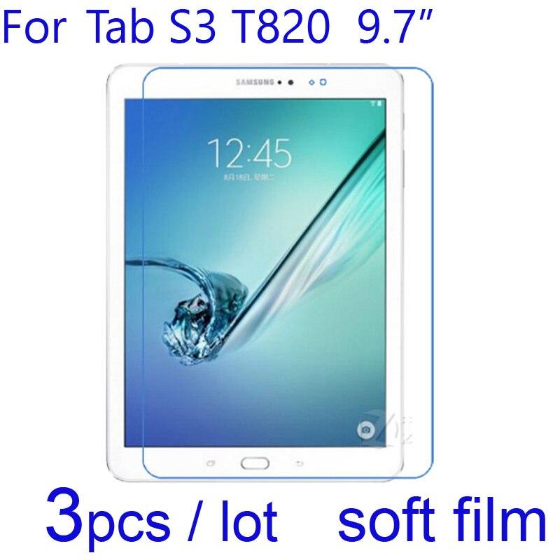 3 piunids/lote película protectora suave transparente/mate/Nano a prueba de explosiones para Samsung Galaxy Tab S3 T820 9,7 protectores de pantalla de tableta pulgadas