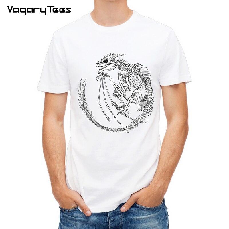 Camisa de manga curta dos homens do design do dragão de harajuku t-shirts dos homens para o homem legal fóssil impressão tshirt