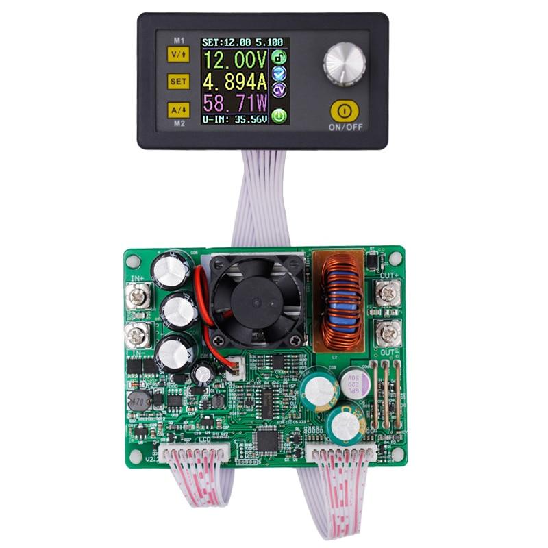 باك-محول جهد كهربي DPS5015, وحدة إمداد الطاقة ، محول جهد مستمر ، تيار تنحى ، قابل للبرمجة ، LCD ، فولتميتر ، 15A 10% إيقاف
