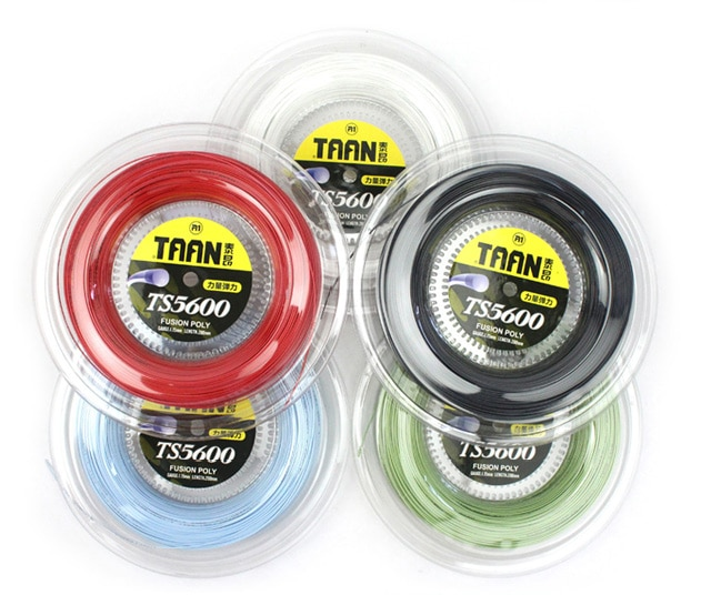 1 Reel TAAN 1.15mm TS5600 Tennis Racket String Fusion Poly Durable Tennis Training Power String 200m tour xc 17l tennis string reel black
