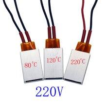1 pcs Ptc Kachels Verwarmingselement Föhn Accessoires Krulspelden Heater 80/120/220 Graden Celsius 220 V air Heaterv