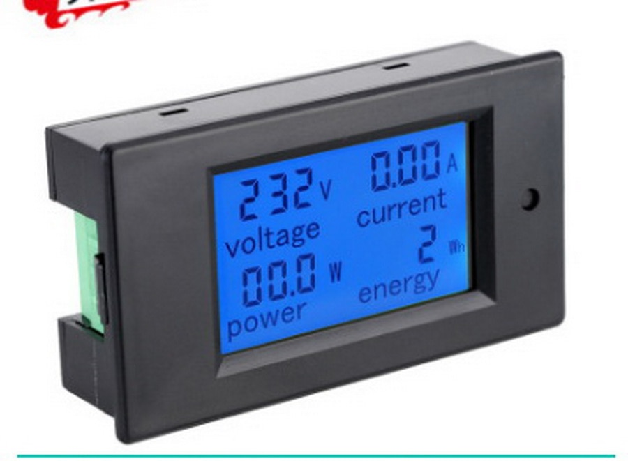 by dhl 20pcs Digital AC Voltage Meters 100A/80~260V Power Energy analog Voltmeter Ammeter watt current Amps Volt meter