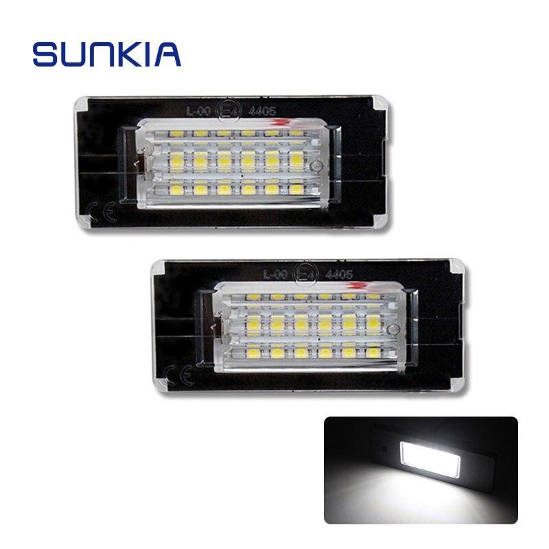SUNKIA 2x luz LED de matrícula para BMW Mini Cooper R56 R57 R58 R59 18SMD Error libre de Color blanco brillante Venta caliente