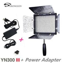 Новинка, Yongnuo YN300 III телефон, 3200k 5500K CRI95, светодиодный ная лампа для фото и видеосъемки с адаптером питания переменного тока