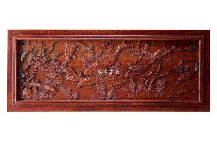 Dongyang-plaque de sculpture sur bois suspendue boutique   Pendentif sur écran croisé arrière-plan de partition chinoise, peut avoir des surplus, yea