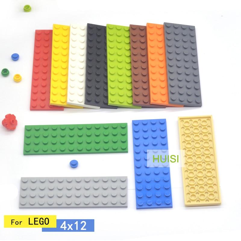 Compatible With Legoes Pieces 4x12 Plate Children Plastic Toys Blocks Parts Moc Bricks Star City Classic Creative Toys 20PCS/LOT