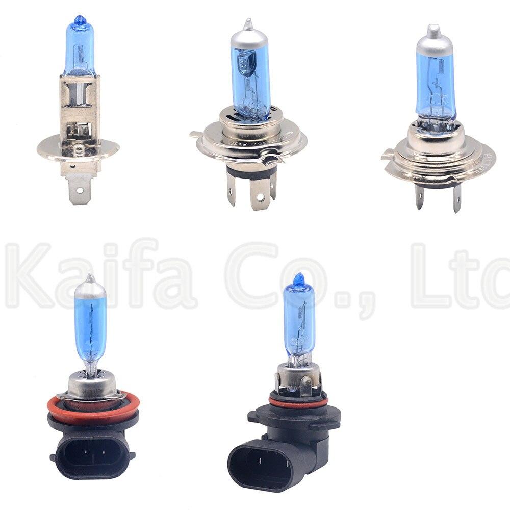 Blue Car Light H1 H3 H4 H7 H9 H11 9005 HB3 9006 HB4 Auto halogen lamp bulb Fog Lights 55W 100W 12V Super White Headlights Lamp
