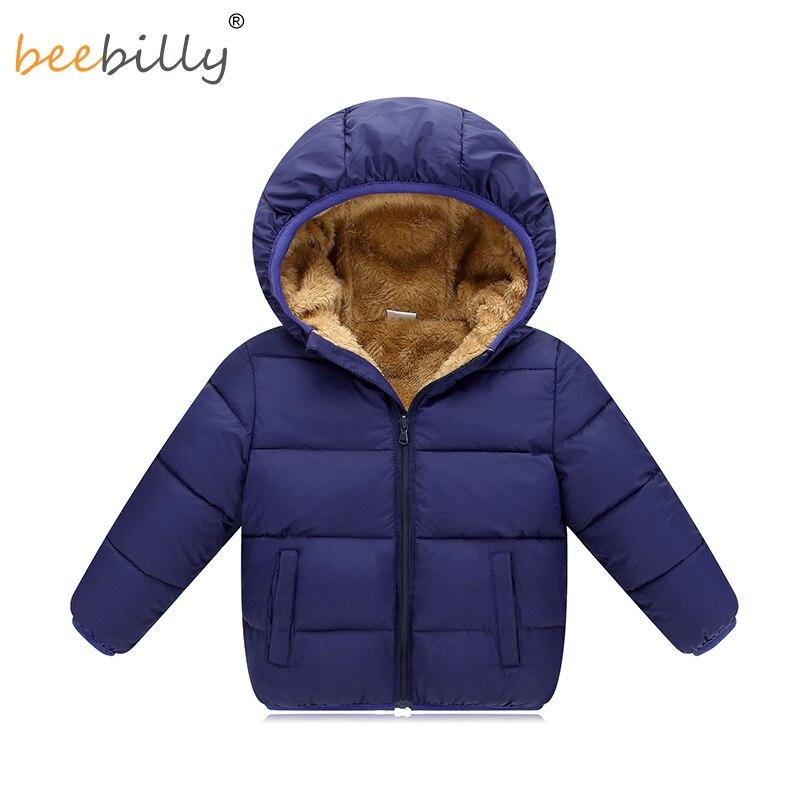BEEBILLY Зимние куртки для девочек мальчиков Теплый берберский флис верхняя одежда