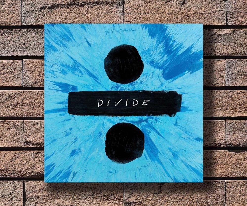 Y254 Ed Sheeran Divide Album Shape Of You Pop Music Hot Poster Art Canvas Print Decoration 16x16 24x24 27x27inch