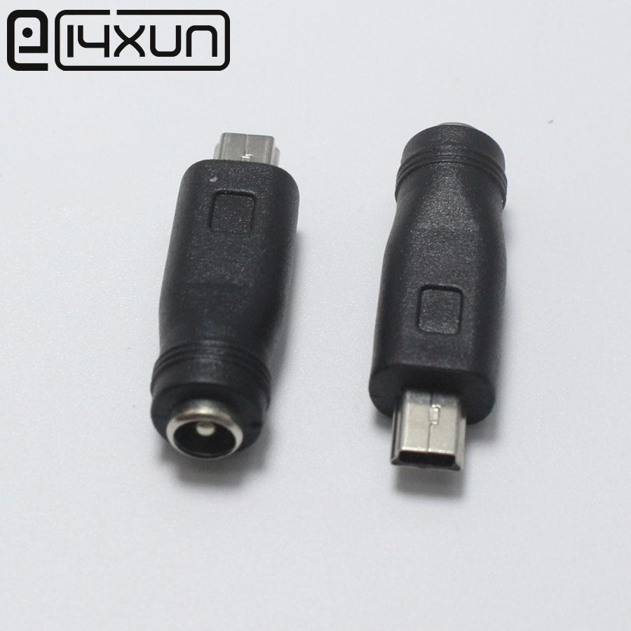 Адаптер питания EClyxun с разъемом 5,5x2,1 мм на штекер Mini USB, 1 шт., разъем для gps-навигатора, MP3 колонки, тахографа для телефона