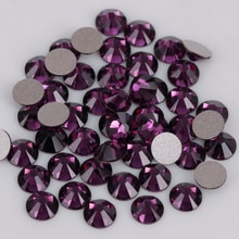 Good Quality ss3-ss50 Amethyst Glue On Crystal Stones / Flat Back Non Hotfix Rhinestones