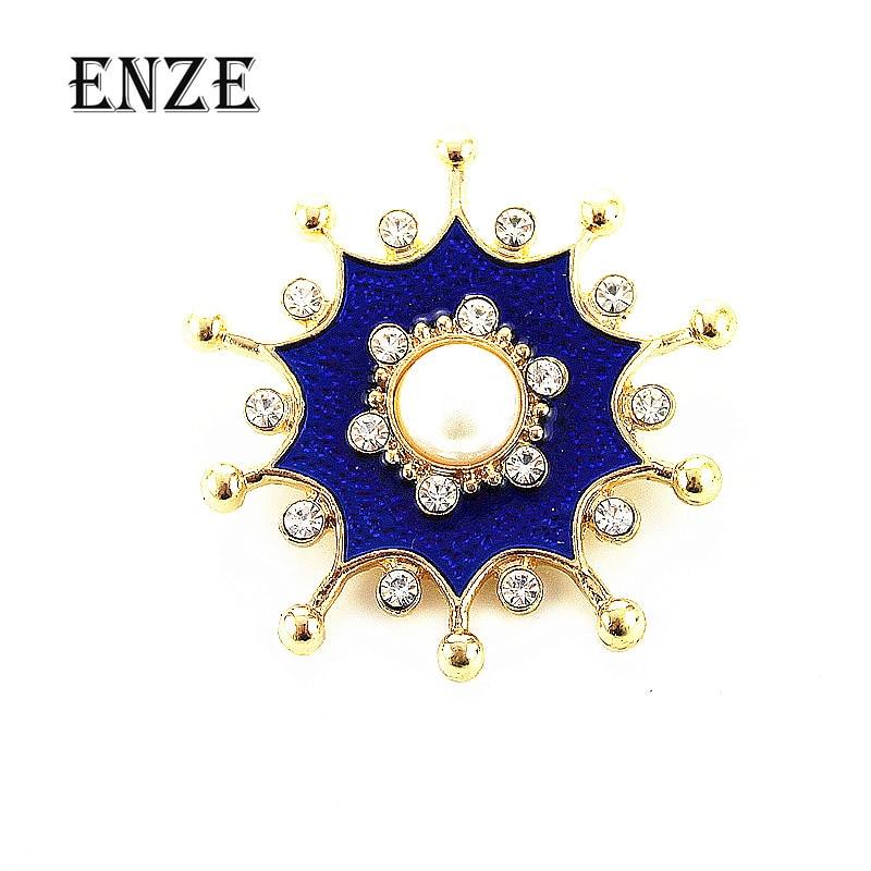 Envío Gratis joyería de moda para mujer nuevo esmalte hecho a mano azul flor temperamento broche regalo