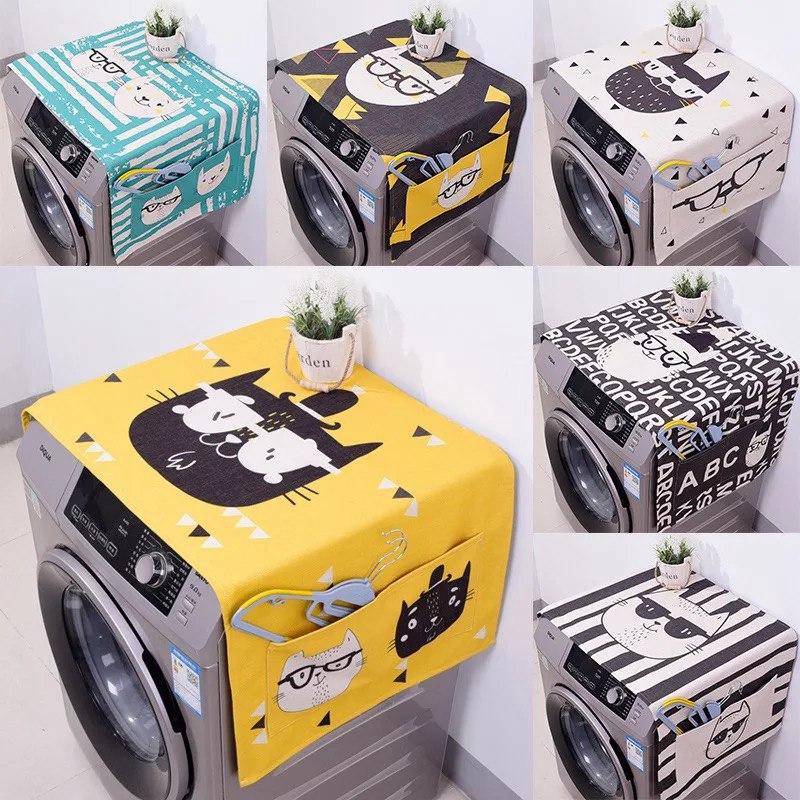 Геометрические Хлопок Белье Пылезащитные Чехлы Стиральная Машина Чехлы Холодильник организатор Пылезащитный Чехол Home Decor lavador