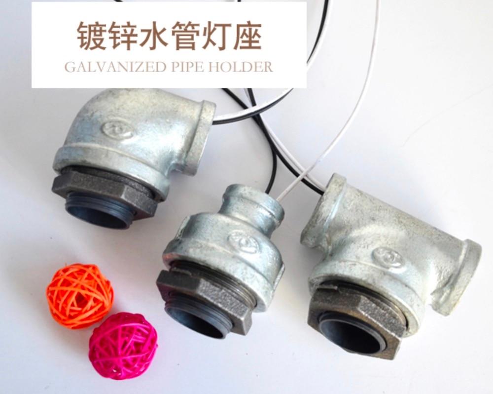 3SET/LOT DIY Industrial Pipe Elbow Connector Light Holder