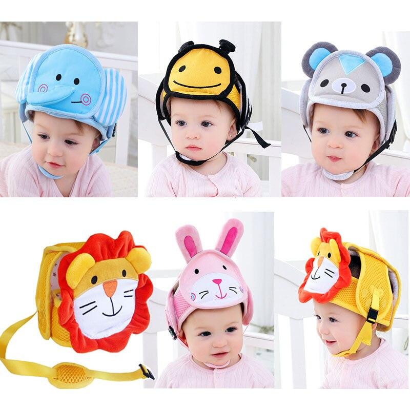 Casco de protección para bebés, casco de seguridad anticolisión para niños y niñas, casco de seguridad para niños y niñas, gorro suave de protección para caminar