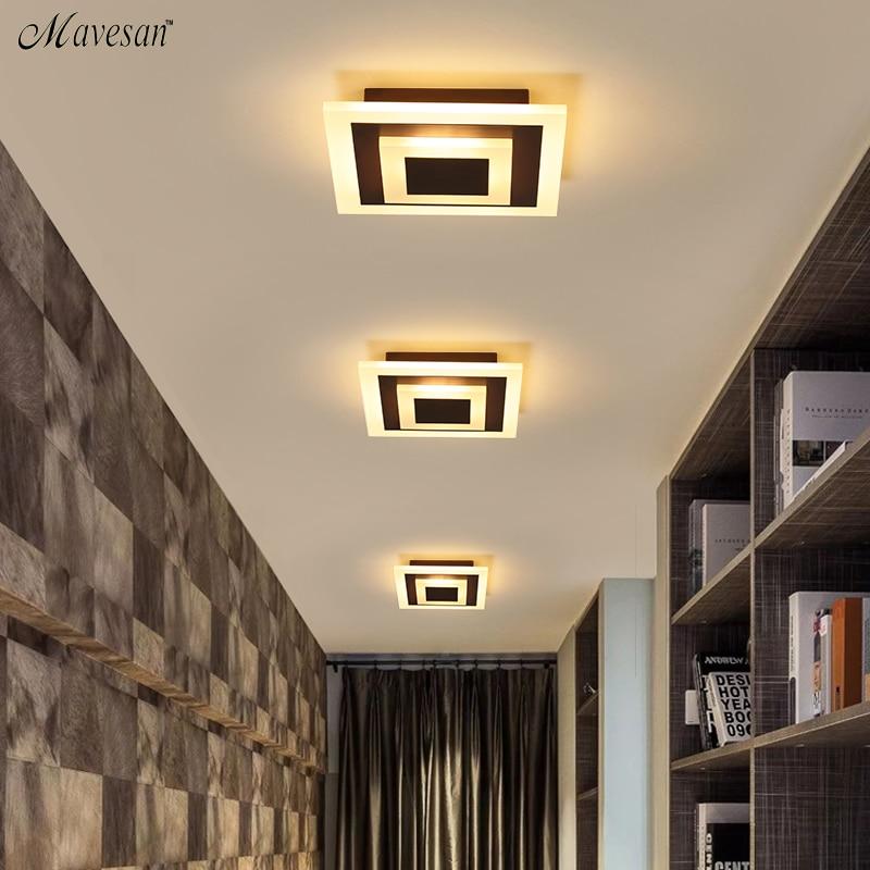Modern Ceiling Lights 12w For Hallway Balcony Corridor Coffe White Light Lamps Bedroom Luminaria Teto Acrylic Lamparas De Techo Leather Bag