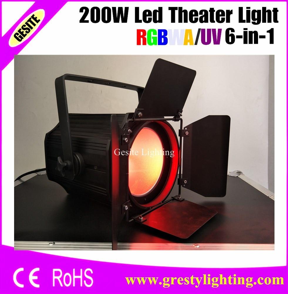 200W COB Led Par latas blanco frío/blanco cálido/RGBW/RGBWA UV Color mezcla para escenario/teatro