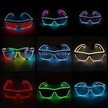 EL Wire lunettes de soleil décoratives   Lunettes EL Wire, lunettes en forme de volet au néon et Rave Festival, lunettes de soleil décoratives pour fête