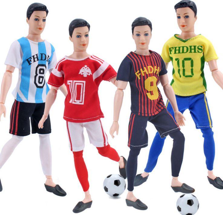 Chemise + pantalon/ensemble mode costume été vêtements de loisirs vêtements coupe du monde vêtements Football uniformes pour 1/6 Barbie Boy Ken Doll