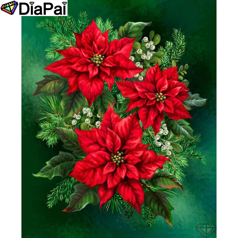 "DIAPAI 100% Full Square/Round Drill 5D DIY Diamond Painting ""Flower landscape"" Diamond Embroidery Cross Stitch 3D Decor A19583"