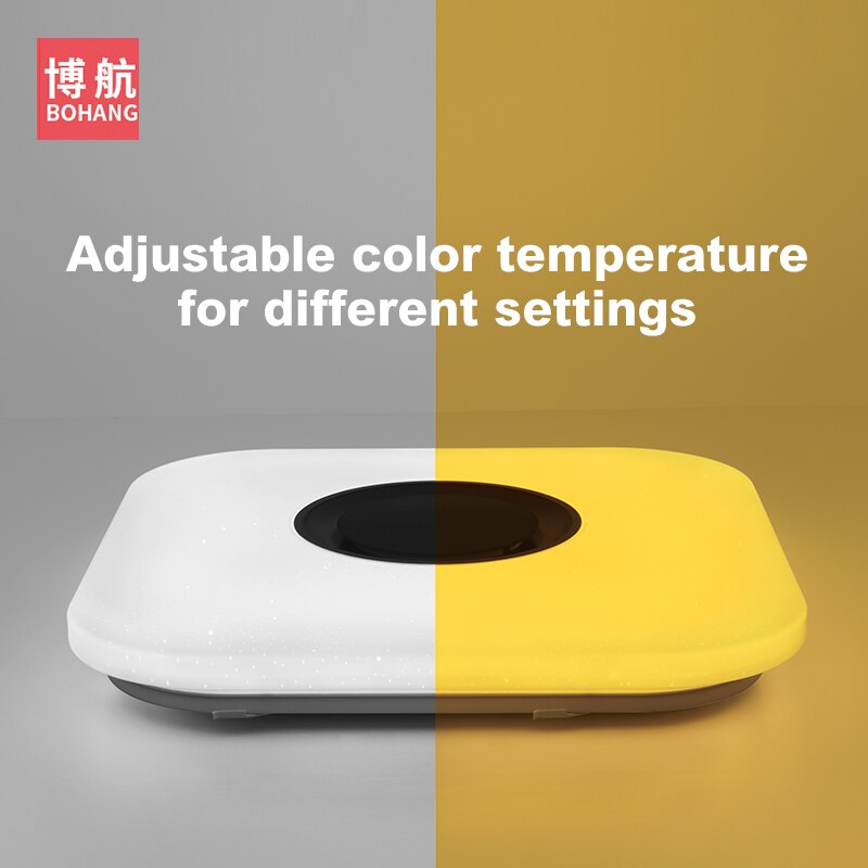 Modern intelligent LED ceiling lamp RGB dimmable APP remote control Bluetooth speaker living room bedroom 90-260v ceiling light  - buy with discount