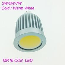 Haute puissance 3w 5w 7w Led Spot lumière réglable E27/E14/GU10 COB lampe de projecteur ampoule MR16 12V chaud froid blanc AC85-265V ampoules