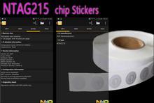 Autocollants NTAG215 NFC dia25mm   Étiquette autocollante NFC, étiquette NFC, vente en gros, 100 pièces/lot