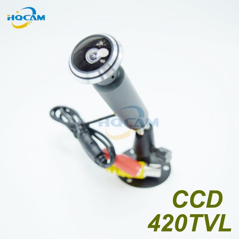 """HQCAM Mini bala Cámara 1/3 """"Sony CCD 420TVL intdoor seguridad CCTV mini cámara para 1,78mm ojo de pez ancho ángulo de la lente"""