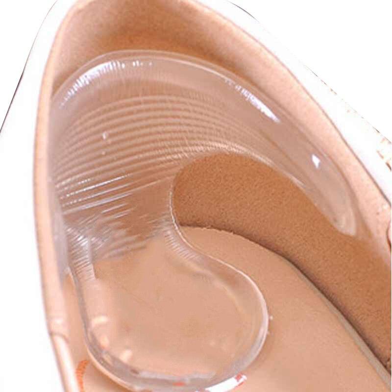 1 pair Transparente Silikon Hohe Ferse Gel Pads Protector Einlegesohle für Frauen Unsichtbare Nicht Slip Fuß Pflege Schmerzen Relief Weiche einlegesohlen