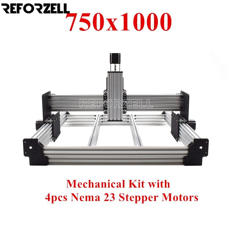 750 مللي متر x 1000 مللي متر WorkBee CNC راوتر آلة كيت CNC طحن الميكانيكية كيت مع 4 قطعة نيما 23 السائر المحركات