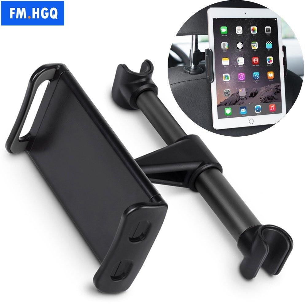Автомобильный держатель для телефона и планшета с креплением на подголовник, Вращающийся Регулируемый кронштейн для задней панели сидения...