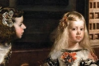 giant poster classical portrait canvas painting details from velazquez diego rodriguez the family of felipe iv or las meninas