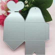 Belle boîte de mariage en métal découpe matrices de découpe en métal costume de scrapbooking pour fustella grande machine de découpe de tir