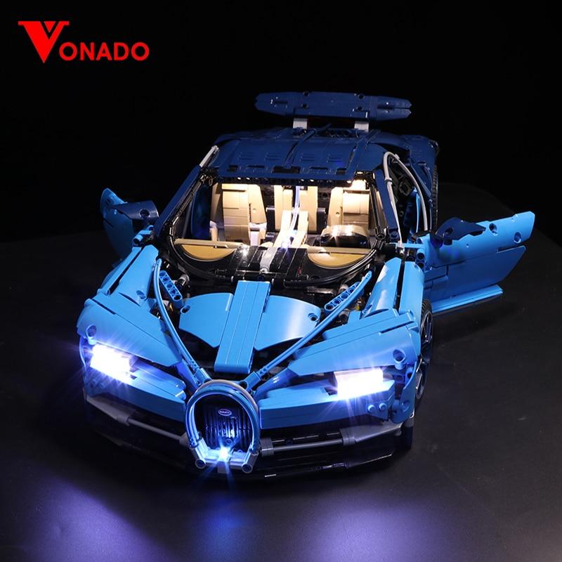 Juego de luces Led Compatible con Lego 42083 20086 Bugatti Chiron bloques de construcción de automóviles técnicos juguetes regalos (solo luz + caja de batería)
