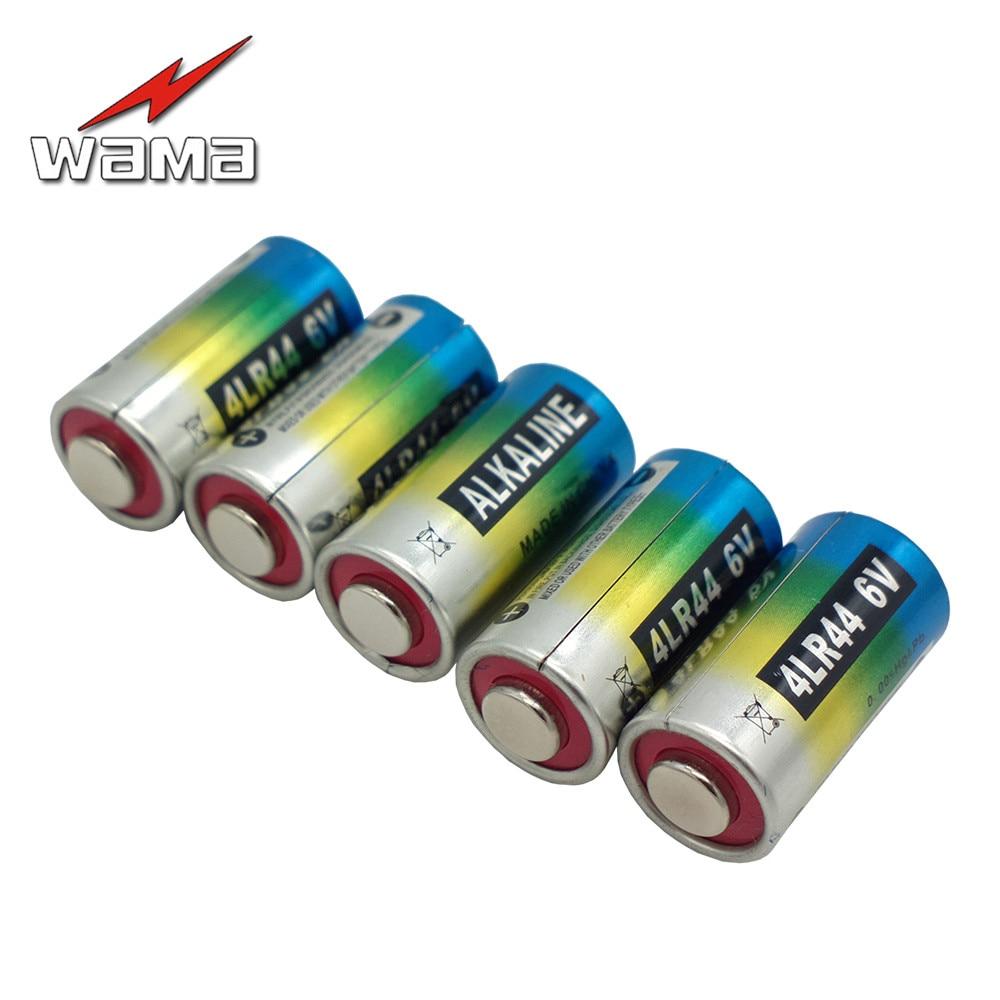 5x Wama 4LR44 6V Dry Alkaline Batteries for Dog Training Shock Collars A544V 4034PX PX28A L1325 4AG13 544 4A76 Camera Battery