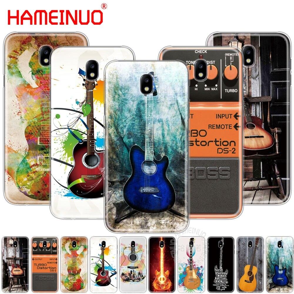 Чехол для телефона HAMEINUO guitar blue music note для Samsung Galaxy J3, J5, J7 2017 года J527 J727 J327 J330 J530 J730 PRO