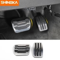 shineka pedals for ford f150 2009 2014 aluminum non slip fuel brake foot pedal pad cover accessories for ford f150 metal step