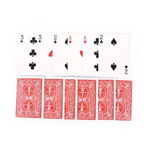 2 Sets clásico fácil naipes de magia familia divertido juego de magia 3 tres cartas tarjeta truco